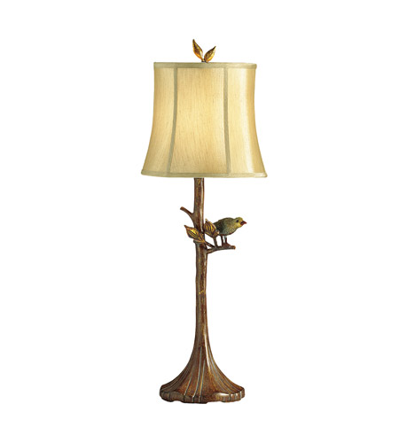 Kichler Lighting The Woodlands 1 Light Table Lamp in Woodbark 70282CA