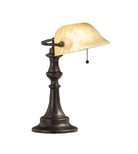 Kichler Lighting Clayton 1 Light Desk Lamp in Bronze 70407CA photo