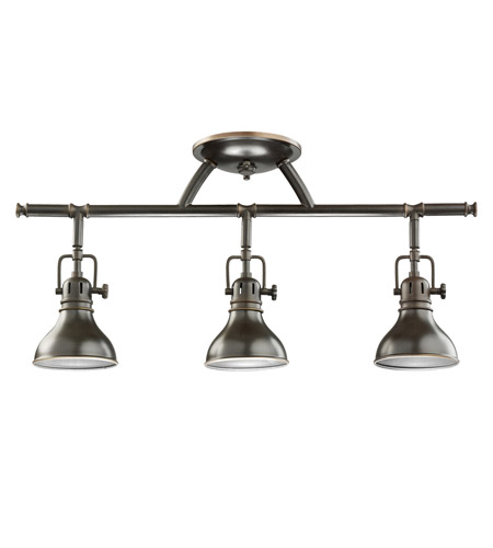 Kichler 7050OZ Hatteras Bay 3 Light Olde Bronze Rail Light Ceiling Light, MR16 photo