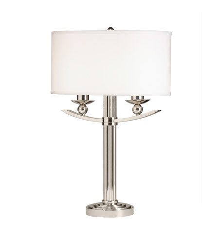 Kichler Lighting Palla 2 Light Table Lamp in Polished Nickel 70748CA