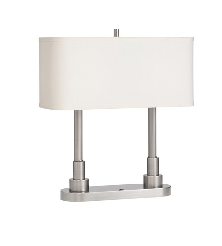 Kichler Lighting Robson 2 Light Desk Lamp in Brushed Nickel 70750NICA photo