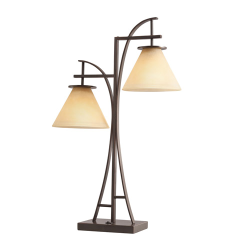 Kichler Lighting Signature 2 Light Table Lamp in Painted Metal 70823