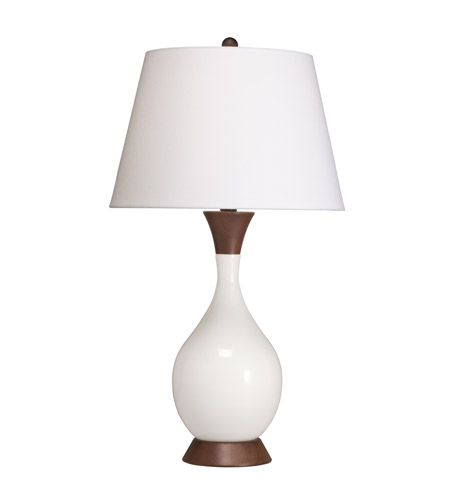 Kichler Lighting Westwood Dagmar 1 Light Table Lamp in White 70854CA photo