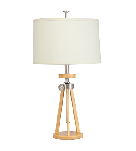 Kichler Lighting Signature 1 Light Table Lamp in Brushed Nickel 70862NI