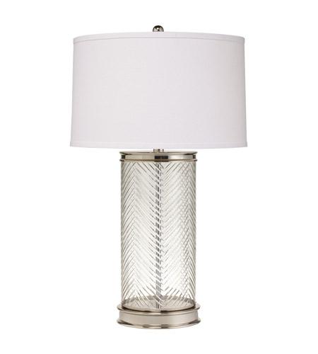 Kichler Lighting Westwood Herringbone 1 Light Table Lamp in Polished Nickel 70869CA photo