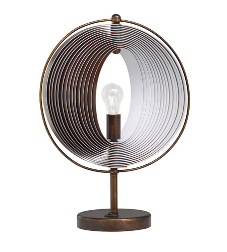 Kichler Westwood Whirl 1 Light Accent Table Lamp in Bronze 70892 photo