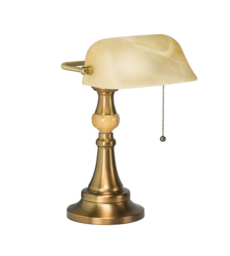 Kichler Tollington 1 Light Lamps Desk in Antique Brass 70941