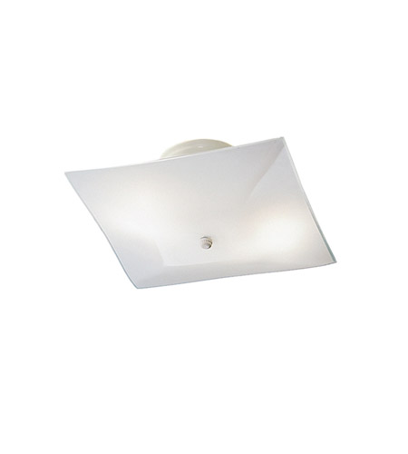 Kichler 7260WH Ceiling Space 2 Light 12 inch White Flush Mount Ceiling Light photo