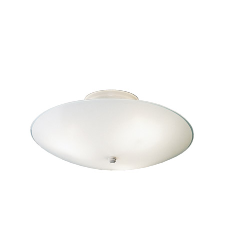 Kichler 7350WH Ceiling Space 3 Light 15 inch White Flush Mount Ceiling Light photo