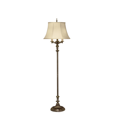 Kichler Lighting New Traditions 4 Light Floor Lamp in Patina Brass 7377PBRCA