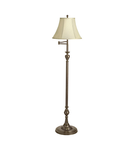 Kichler Lighting New Traditions 1 Light Floor Lamp - Swingarm in Patina Brass 74115