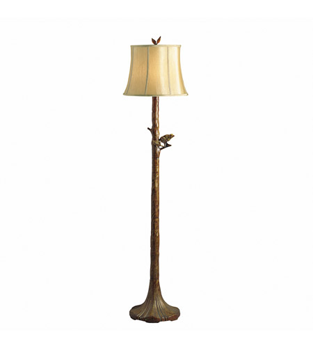 Kichler Lighting The Woodlands 1 Light Floor Lamp in Woodbark 74138CA