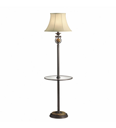 Kichler Lighting Seneca 1 Light Floor Lamp - Tray in Copper Bronze 74142CA photo