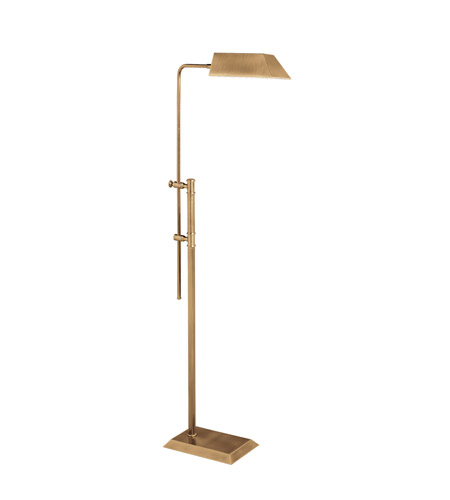 Kichler Lighting Westwood at Work 1 Light Floor Lamp - Pharmacy in Antique Brass 74154 photo