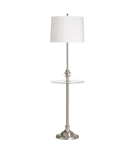 Kichler Lighting Pressick II 1 Light Floor Lamp - Tray in Brushed Nickel 74239CA photo