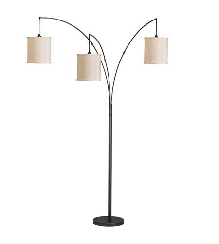 Kichler westwood light arc floor lamp in bronze 74264ca aloadofball Images