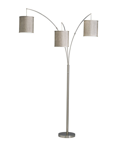 Kichler Westwood Light Arc Floor Lamp in Brushed Nickel 74264NICA