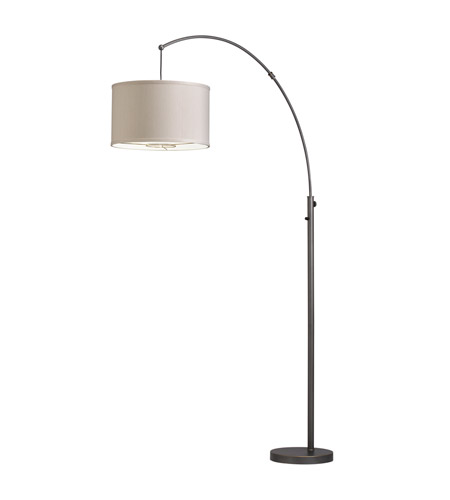 Kichler Westwood Light Arc 1 Light Floor Lamp in Bronze 74265CA