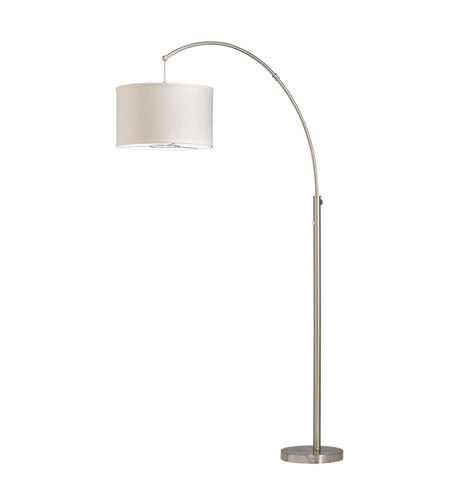 Kichler Westwood Light Arc 1 Light Floor Lamp in Brushed Nickel 74265NICA
