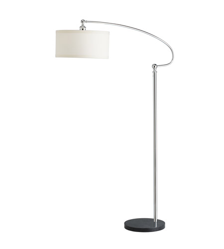 Kichler Westwood Gatwick 1 Light Floor Lamp in Chrome 74274