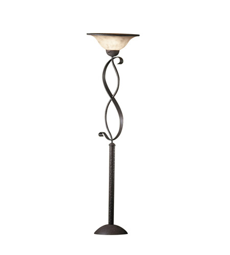 Kichler Lighting High Country 1 Light Torchiere in Old Iron 76007CA
