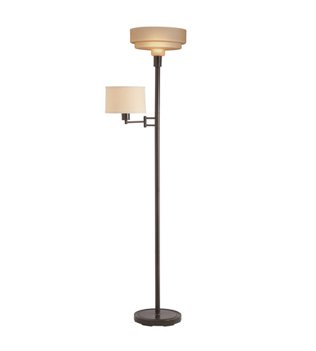 Kichler Lighting Reid 2 Light Torchiere in Bronze 76106 photo