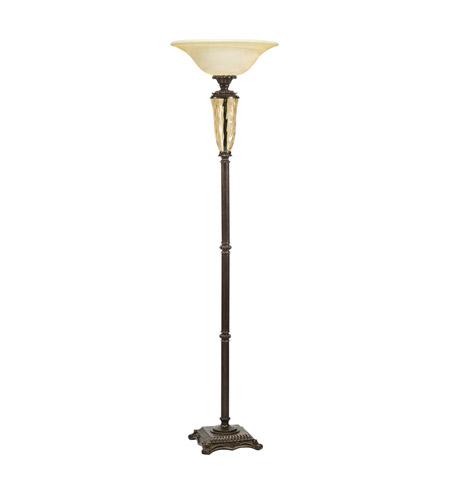 Kichler lighting cheswick 1 light torchiere in bronze 76155 photo