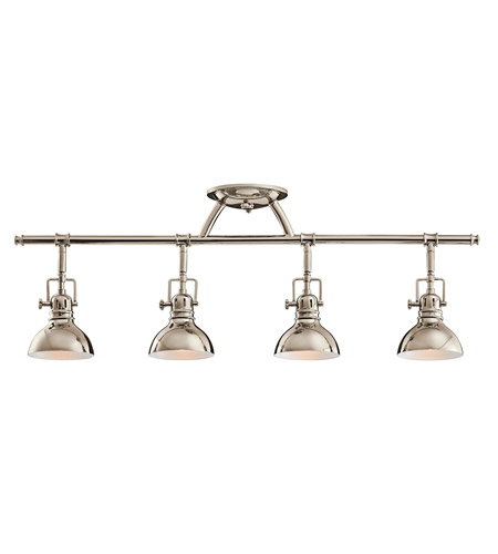 Kichler 7704pn Hatteras Bay 4 Light Polished Nickel Rail