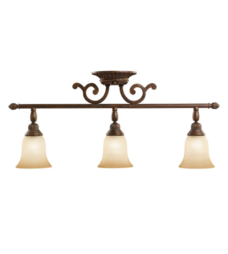 Kichler Lighting Larissa 3 Light Rail Light in Tannery Bronze w/ Gold Accent 7713TZG photo