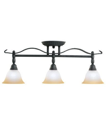 Kichler Lighting Pomeroy 3 Light Rail Light in Distressed Black 7734DBK photo