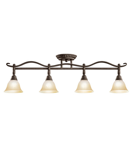 Kichler Lighting Pomeroy 4 Light Rail Light in Distressed Black 7744DBK photo