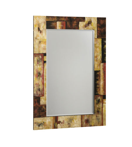 Kichler 78030 Urban Traditions Porcelain 36 X 24 inch Multi-Color Wall Mirror Home Decor, Rectangular photo