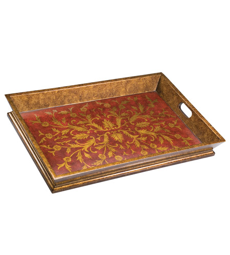 Kichler Lighting Chalmette Decorative Tray in Antique Red 78046