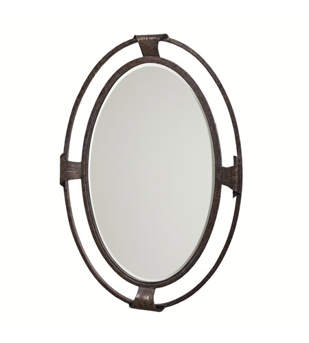 Kichler 78103 High Country 32 X 22 inch Old Iron Wall Mirror Home Decor, Oval photo
