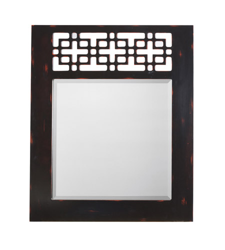 Kichler 78116 Fretwork 36 X 30 inch Hand Painted Mirror Home Decor, Rectangular photo