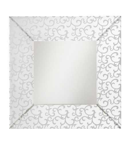Kichler 78120 Scroll 36 X 36 inch Clear Mirror Home Decor, Square photo