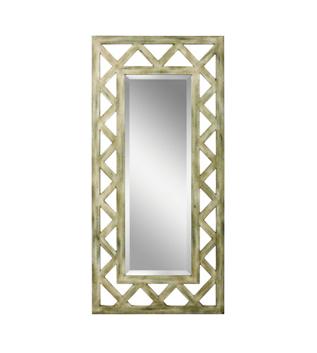 Kichler 78135 Lattice 50 X 24 inch Hand Painted Wall Mirror Home Decor, Rectangular photo