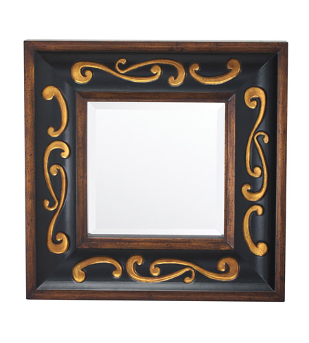 Kichler 78159 Signature 30 X 30 inch Wood Wall Mirror Home Decor, Square photo