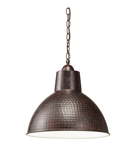 Kichler 78200 Missoula 1 Light 14 inch Bronze Pendant Ceiling Light in Standard photo