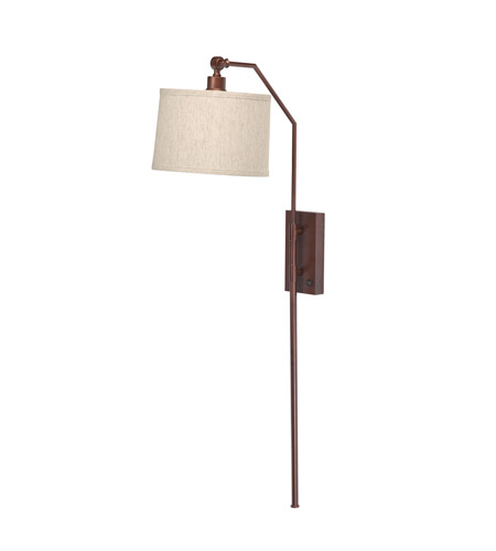 Kichler Westwood Clinton 1 Light Wall Sconce in Burnish Copper Bronze 78260BCZCA