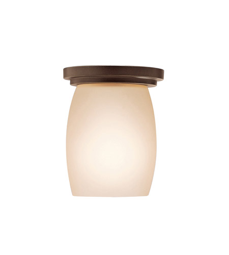 Kichler 8043OZ Eileen 1 Light 5 inch Olde Bronze Flush Mount Ceiling Light in Standard, Umber Etched Glass photo