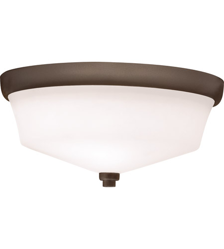 Kichler 8044OZ Langford 2 Light 13 inch Olde Bronze Flush Mount Ceiling Light