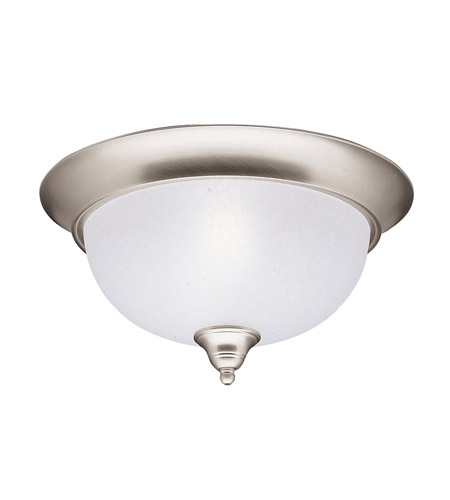 Kichler 8064NI Dover 2 Light 13 inch Brushed Nickel Flush Mount Ceiling Light photo