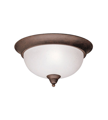 Kichler Lighting Dover 2 Light Flush Mount in Tannery Bronze 8064TZ