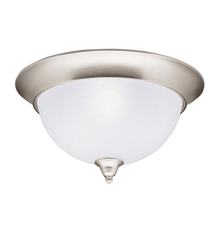 Kichler 8065NI Dover 3 Light 15 inch Brushed Nickel Flush Mount Ceiling Light photo