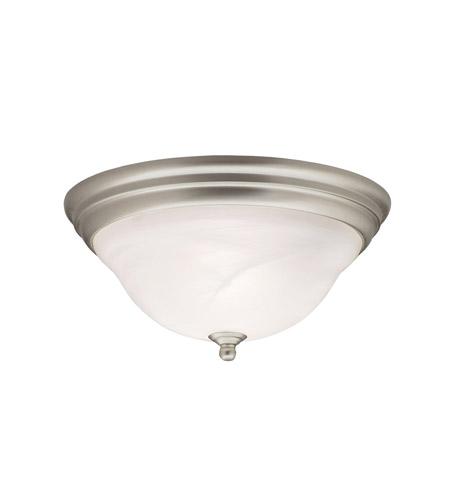 Kichler 8076ni Telford 2 Light 14 Inch Brushed Nickel Flush Mount Ceiling