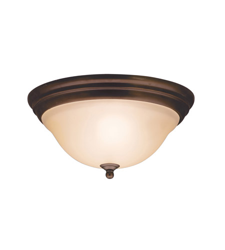 Kichler Lighting Telford 2 Light Flush Mount in Olde Bronze 8076OZ