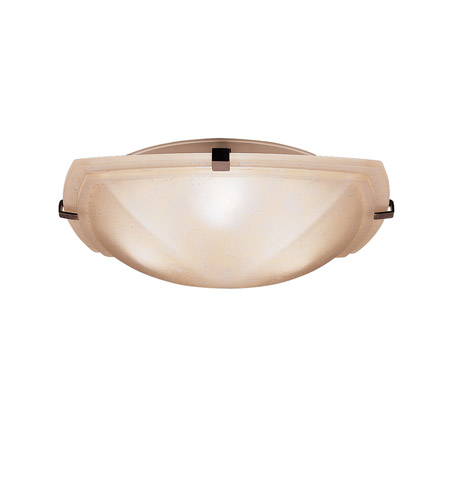 Kichler Lighting Signature 3 Light Flush Mount in Tannery Bronze 8085TZ