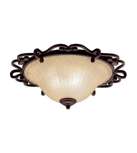 Kichler Lighting Wilton 2 Light Flush Mount in Carre Bronze 8090CZ photo