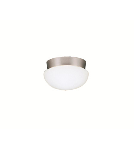 Kichler Lighting Ceiling Space 1 Light Flush Mount in Brushed Nickel 8101NI
